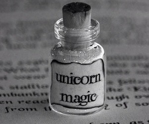 unicorn, magic, and book image