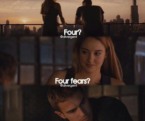 four, divergent, and fear image