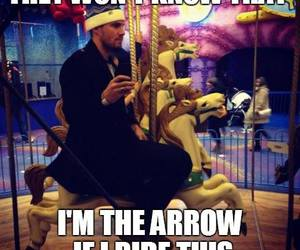 actor, arrow, and joke image