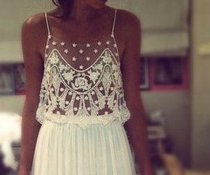 style, white, and beautiful dres image
