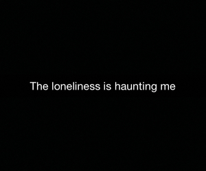 alone, bring, and haunting image