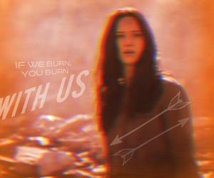 snow, katniss, and katniss everdeen image