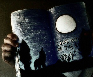 wreck this journal, wolf, and art image