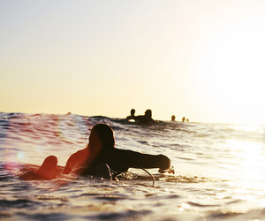 surf, sea, and surfing image