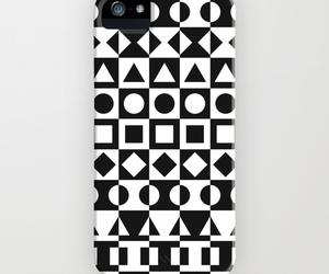black and white, shapes, and iphone cases image