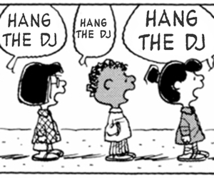 panic, the smiths, and peanuts comic image