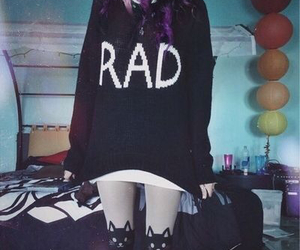 rad, grunge, and hair image