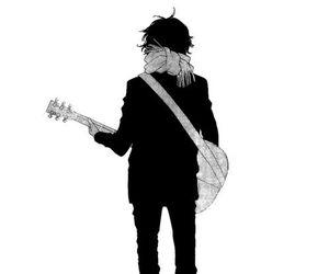 anime, boy, and guitar image