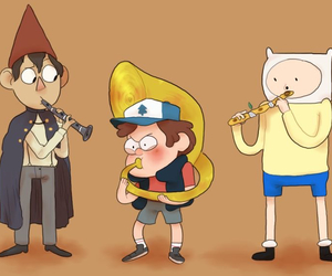 adventure time, gravity falls, and finn image
