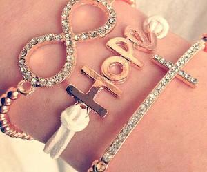 bracelet, hope, and infinity image