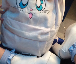 cute, backpack, and sailor moon image