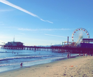 beach, california, and silened image