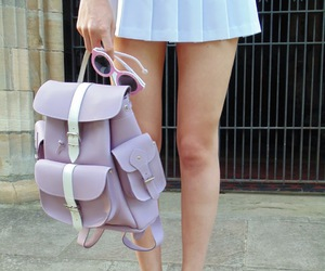 bag, legs, and shoes image