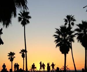 california, la, and sunset image