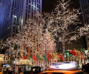 christmas, city, and decorations image
