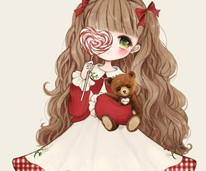 anime, bows, and ribbons image