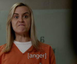 orange is the new black, oitnb, and anger image