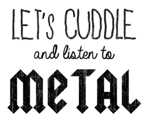 metal, cuddle, and music image