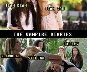 delena, stelena, and the vampire diaries image