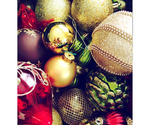 christmas, decorations, and glitter image