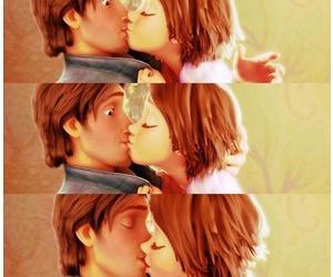 disney, kisses, and rapunzel image
