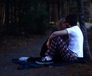 boy, kissing, and couple image
