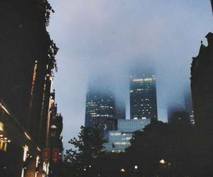 city, fog, and light image