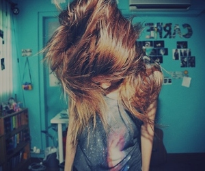 girl, hair, and crazy image