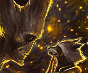groot, rocket, and guardians of the galaxy image