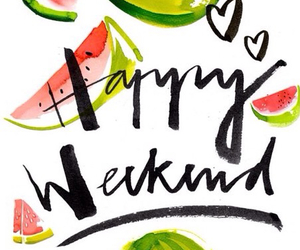 weekend, watermelon, and happy image