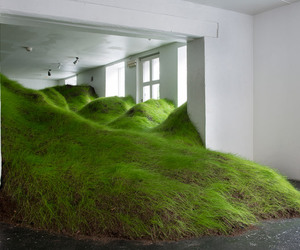 art, grass, and green image