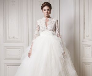 wedding dress, wedding, and Couture image