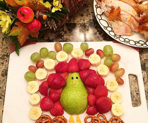 food, fruit, and thanksgiving image