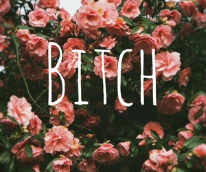 bitch and flowers image