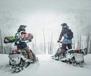 scooter, wilderness, and winter image