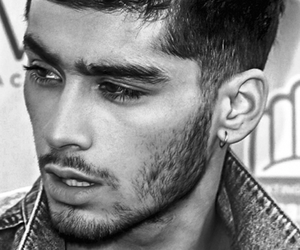 zayn malik, one direction, and black and white image