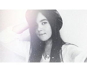 blackandwhite, girl, and hat image