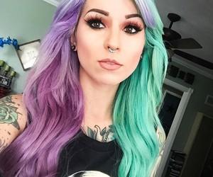 tattoo, beautiful, and hair image