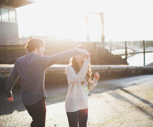 couple, dancing, and sun image