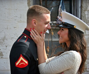 couple, love, and Marines image