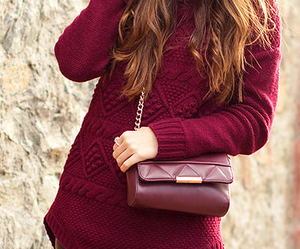 burgundy, leather, and outfit image
