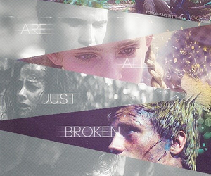 broken and the hunger games image