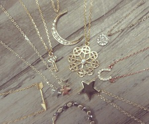 accessories, necklace, and stars image