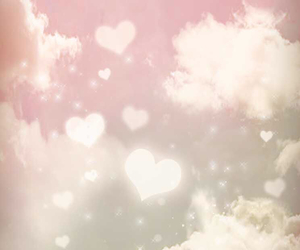 heart, pink, and sky image