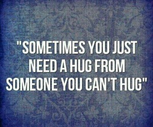 hug, quote, and someone image