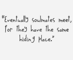 love, quote, and soulmates image