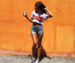 girl, outfit, and tan image