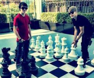 justin bieber, christian beadles, and chess image