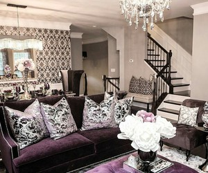 home, decor, and purple image