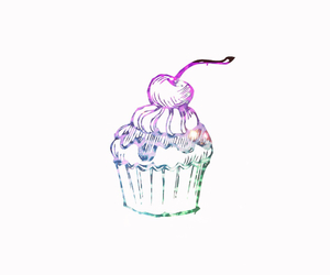 cupcake, transparents, and frosty image